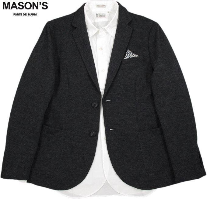 MASON'S/メイソンズ JT519 MAN BLAZER DAVINCI MICROFANCY WOOL JERSEYコットン×ウール混、ストレッチ テーラードジャケット,ブレザーCHARCOAL GREY(チャコールグレー)/2GC2340PAT