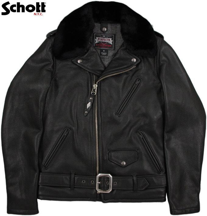 Schott/ショット #7565 PER90 ANNIVERSARY PERFECTO JACKET Schott社創立90周年記念限定 パーフェクトライダースジャケット BLACK(ブラック)
