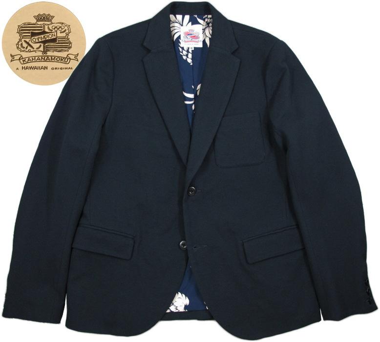 SUN SURF/サンサーフ DUKE KAHANAMOKU(デューク・カハナモク) Duke's Beach Knit Jacket デュークス・ビーチニットジャケット/テイラードジャケット NAVY(ネイビー)/DK12932