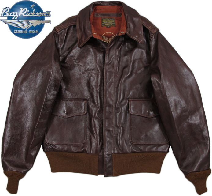 "BUZZ RICKSON'S/バズリクソンズ Jacket, Flying, Summer Type A-2""ROUGHWEAR CLOTHING CO."" CONTRACT NO. W535 AC-23380 1942 MODELLot/BR80253 ラフウェア社A-2フライトレザージャケット"
