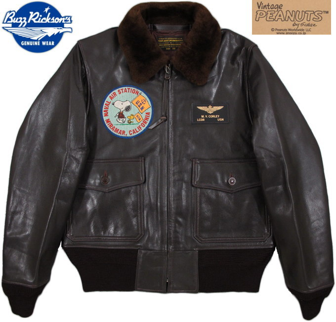 """BUZZ RICKSON'S/バズリクソンズ Jacket, Flying, Intermediate TYPE G-1 MIL-J-7823 """"BUZZ RICKSON SPORTSWEAR"""" LACQUER FINISHED SNOOPY PATCH/BR80425"""