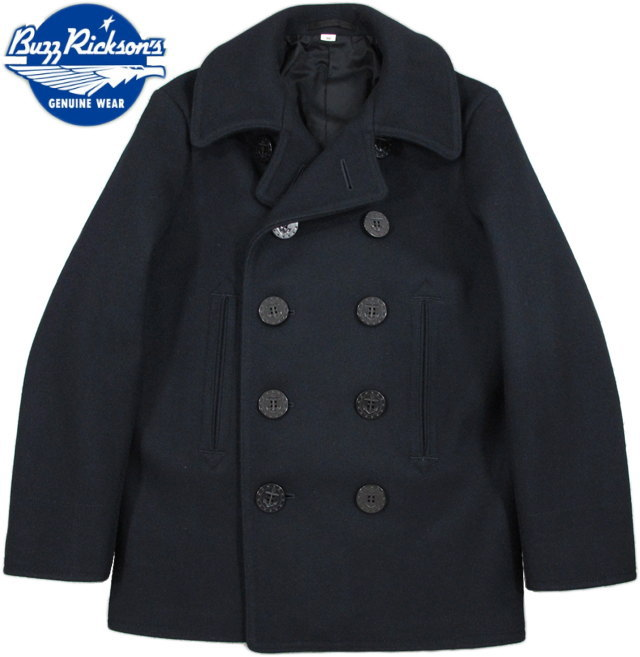 "BUZZ RICKSON'S/バズリクソンズ ENLISTED MAN'S OVERCOAT TYPE PEA COAT ""NAVAL CLOTHING FACTORY"" P-COAT/ピーコート 01)NAVY/ Lot;BR11554"