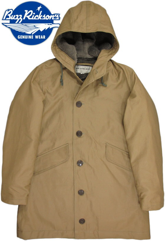 "BUZZ RICKSON'S/バズリクソンズ PARKA, DECK, ZIP, Type DECK PARKA""NAVAL CLOTHING FACTORY"" デッキパーカー ORIGINAL SPEC. 40's MODEL/BR13323"