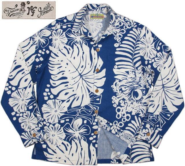 MFSC(SAIGON COWBOY) COTTON TAHITI SHIRT/ミスターフリーダム・コットンタヒチシャツ 125 BLUE(ブルー)/SC26966