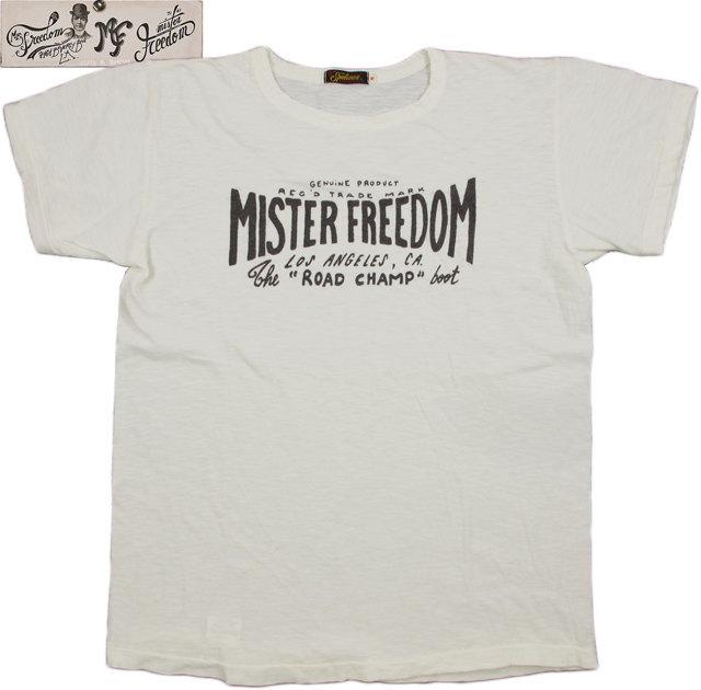 "MFSC(Mister Freedom×Sugar Cane) ミスターフリーダム×シュガーケーン Made in U.S.A. S/S SHOP T-SHIRT,""MISTER FREEDOM LA CA"" 半袖プリントTシャツ/半袖カットソー WHIE(ホワイト)/SC76943"