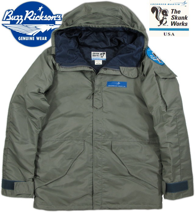 BUZZ RICKSON'S/バズリクソンズ Extended Cold Weather Clothing Systems type LOCKHEED SKUNK WORKS ロッキード・スカンクワークス・フィールドパーカ/BR13622