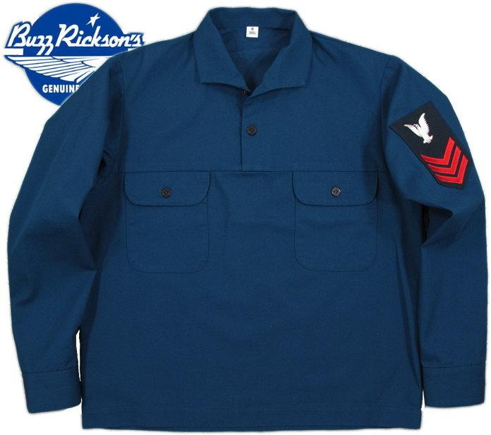 BUZZ RICKSON'S/バズリクソンズ JUMPERS, UTILITY, LIGHT BLUE ジャンパース・ユーティリティー・ライトブルー/ユーティリティーシャツ/プルオーバーシャツ BLUE(ブルー)/BR27157