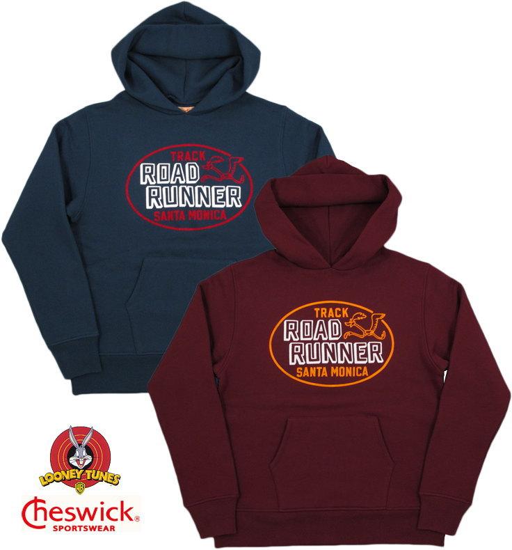 """CHESWICK/チェスウィックROAD RUNNER HOODED PARKA""""SANTA MONICA TRACK"""" ロードランナーフロッキープリントパーカ/スウェットパーカLot;CH67803"""