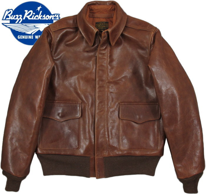 "BUZZ RICKSON'S/バズリクソンズ Jacket, Flying, Summer Type A-2""BUZZ RICKSON MFG.CO."" Order NO. W535 AC-20960 CHEVRON ZIPPERLot/BR80477 J.A.デュボウ社A-2フライトレザージャケット"