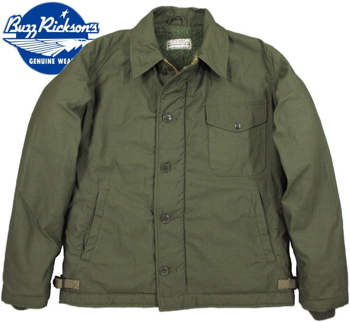 """BUZZ RICKSON'S/バズリクソンズ Jacket, Intermediate, Cold Weather Type A-2 DECK JACKET""""U.S. NAVY""""A-2デッキジャケット Lot/BR12291"""