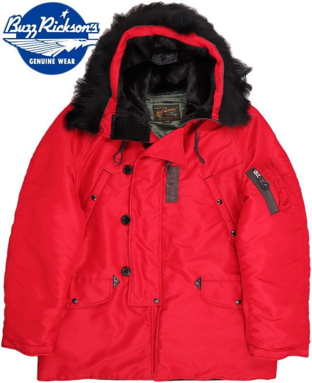 "BUZZ RICKSON'S バズリクソンズ JACKET FLYING HEAVY BLAZING RED N-3B Type""SCORPION""BUZZ RICKSON MFG.CORP. Lot;BR14448 送料無料 返品保証 売れ行き好調"