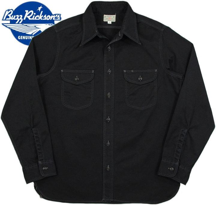 BUZZ RICKSON'S/バズリクソンズ HERRINGBONE WORK SHIRT 長袖ヘリンボーン ワークシャツ/コットンヘリンボーンシャツ BLACK(ブラック)/BR26081