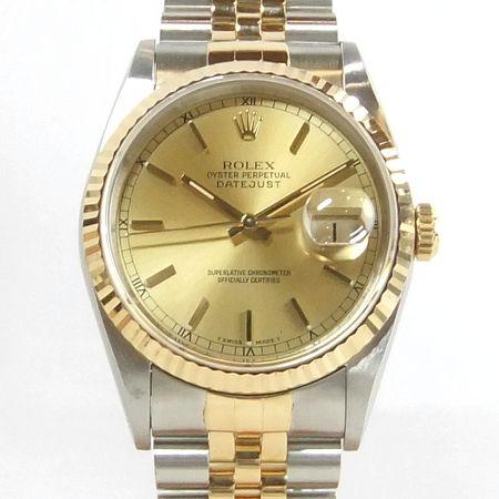 【質屋出店】【当店保証3年付】ロレックス デイトジャスト 16233 メンズ オーバーホール済 時計【中古】