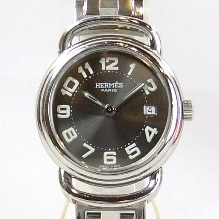 【質屋出店】【当店保証1年付】エルメス プルマンPU2.210 レディース 時計【中古】