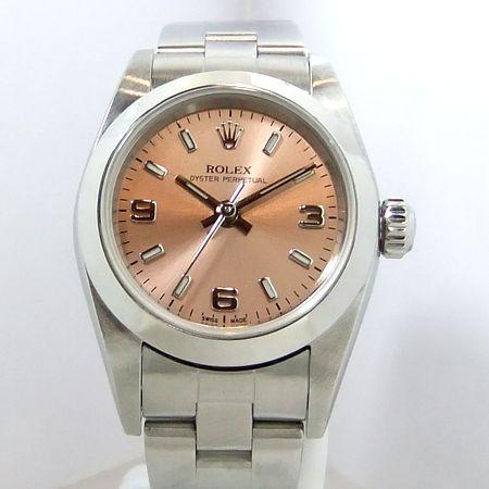 【質屋出店】【当店保証3年付】ロレックス オイスターパーペチュアル 76080 レディース 時計【中古】