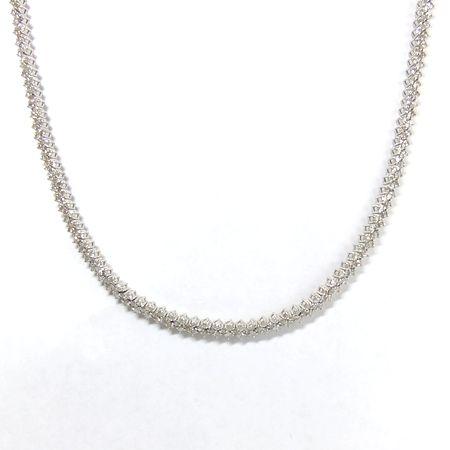 【質屋出店】ダイヤ5.00ct K18WG(ホワイトゴールド) ネックレス【中古】