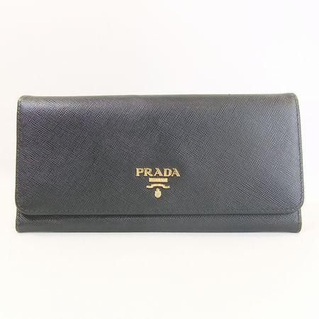 【質屋出店】プラダ サフィアーノ メタル 1M1132 2つ折長財布【中古】