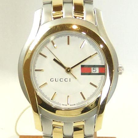 【質屋出店】【当店保証1年付】グッチ 5500M メンズ 時計【中古】
