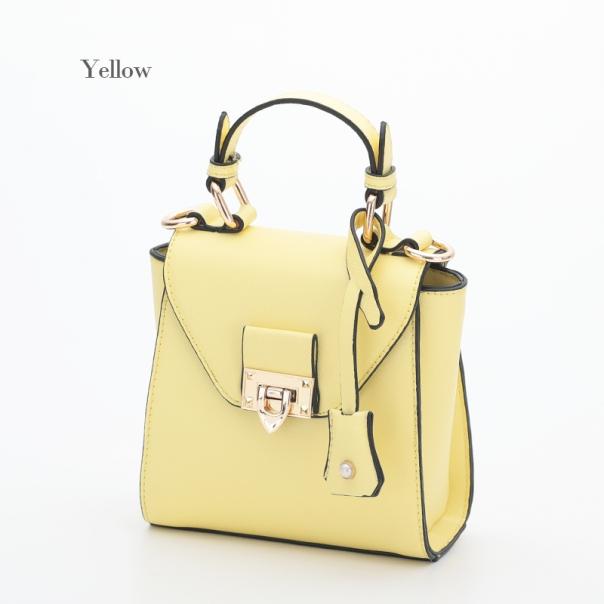 【DISESTESSI】5023 ハンドバッグ ショルダー付 イエロー 黄色