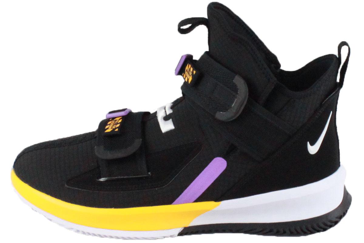 brand new 7b430 d4943 Nike NIKE basketball shoes LEBRON SOLDIER XIII SFG EP Revlon soldier 13 SFG  EP (BLACK/WHITE-UNIV GOLD-BRT VIOLET) 2019/8/1