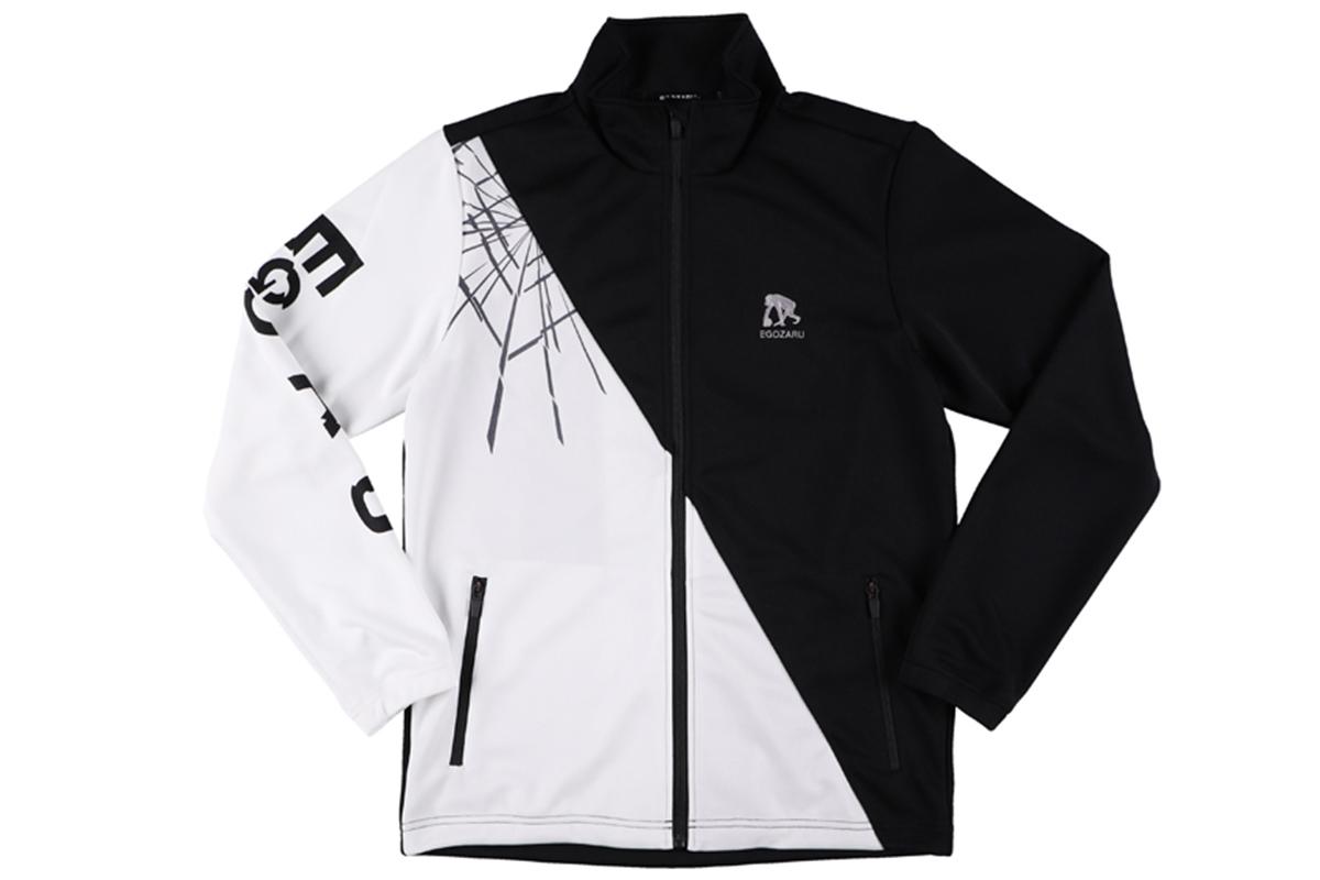 エゴザル EGOZARUバスケ 長袖BREAKTHROUGHウォームアップジャケット(ブラック/ホワイト)【EZJE-1901】