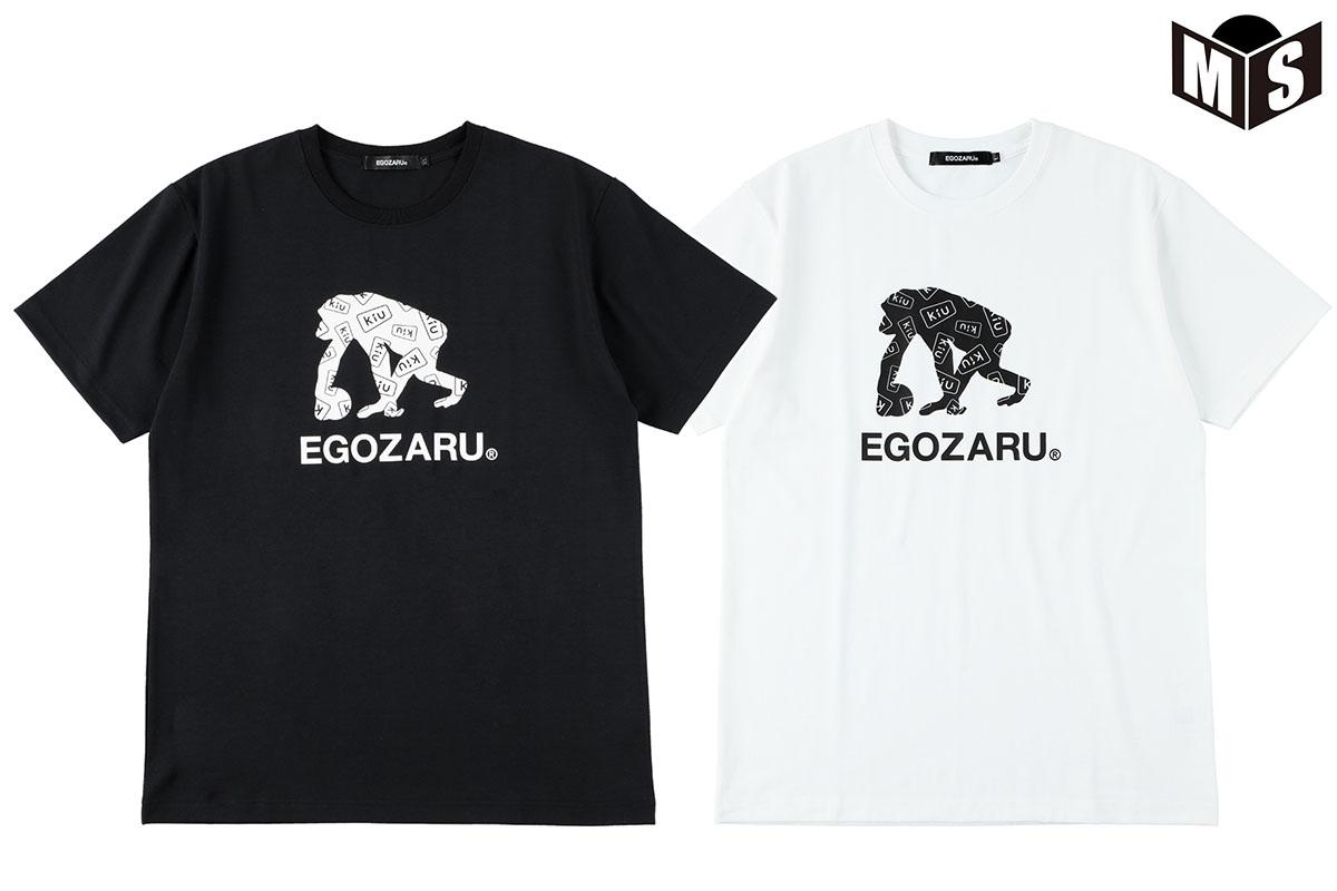 2020春夏モデル [ギフト/プレゼント/ご褒美] 2色展開 キウ×エゴザル Kiu×EGOZARUバスケ tシャツLOGO Tシャツ EZSTKiu-2003 商い