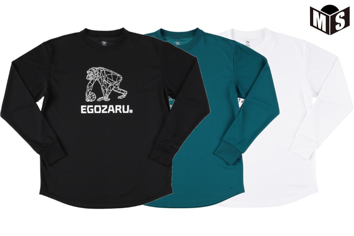 2020秋冬モデル 3色展開 エゴザル EGOZARUバスケ MESHロングTシャツ 至上 ロンtPOLYGON EZLT-2008 定番から日本未入荷