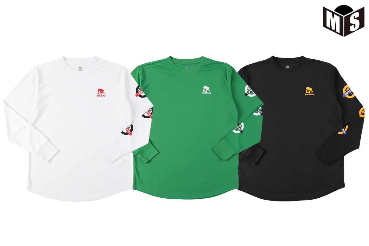 初回限定 2021秋冬モデル 3色展開 エゴザル EGOZARUバスケ EZLT-F2110 ロンtSLEEVE ICONロングTシャツ 正規取扱店
