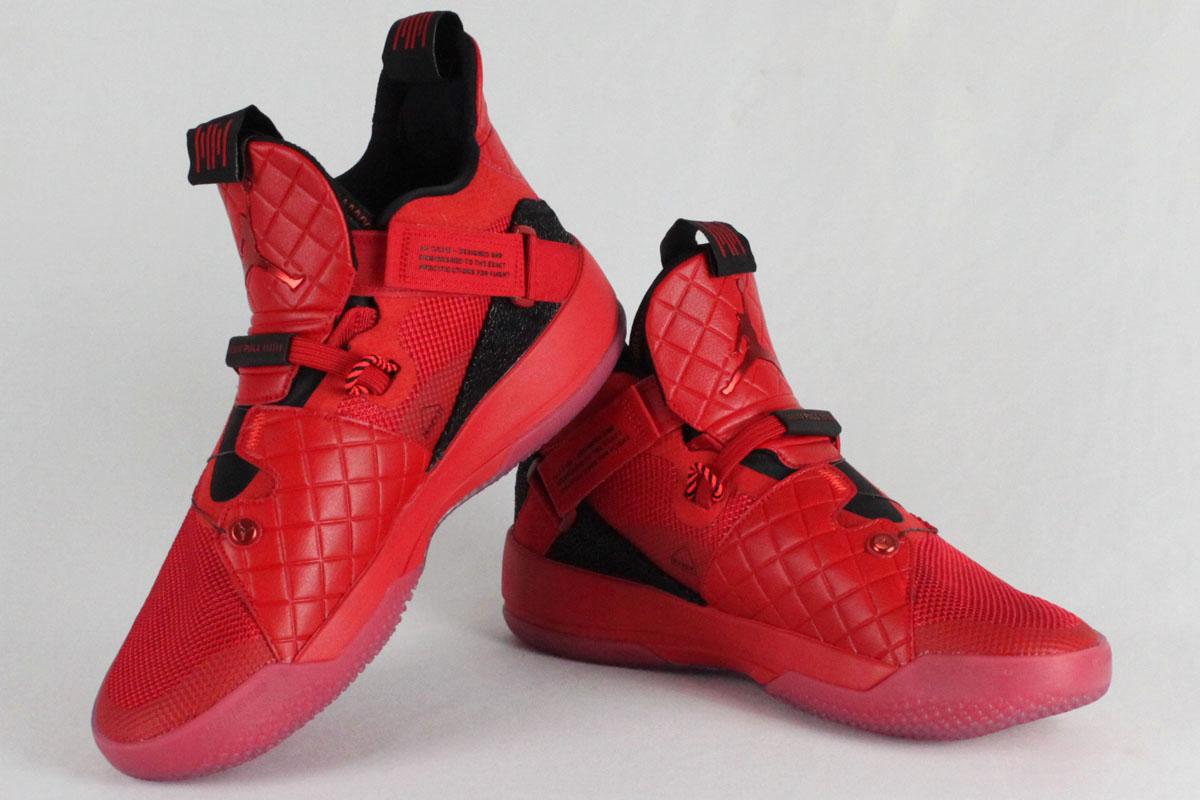 Nike Jordan NIKE JORDAN basketball shoes NIKE AIR JORDAN XXXIII PF Nike Air Jordan 33 PF (university red black sail)