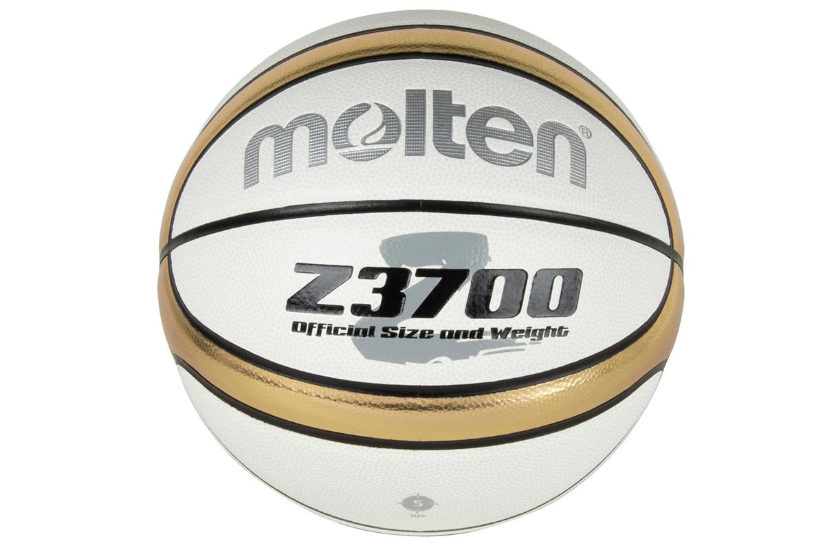 ネーム加工可 モルテン ギフ_包装 moltenバスケットボール5号球合成皮革 B5Z3700-WZ ホワイト ☆最安値に挑戦 ゴールド