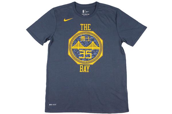online store 978a3 b2911 Nike NBA NIKE basketball t shirt Golden State Warriors Kevin Durant #35  T-shirt