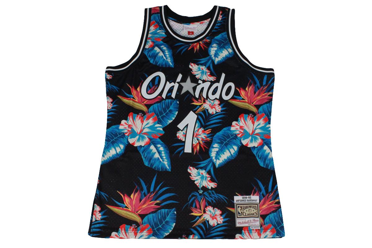 hot sale online d4408 57087 (☆) Mitchel &ness Mitchell & Ness basketball uniform NBA floral swing man  jersey Orlando Magic #1 Anfernee Hardaway