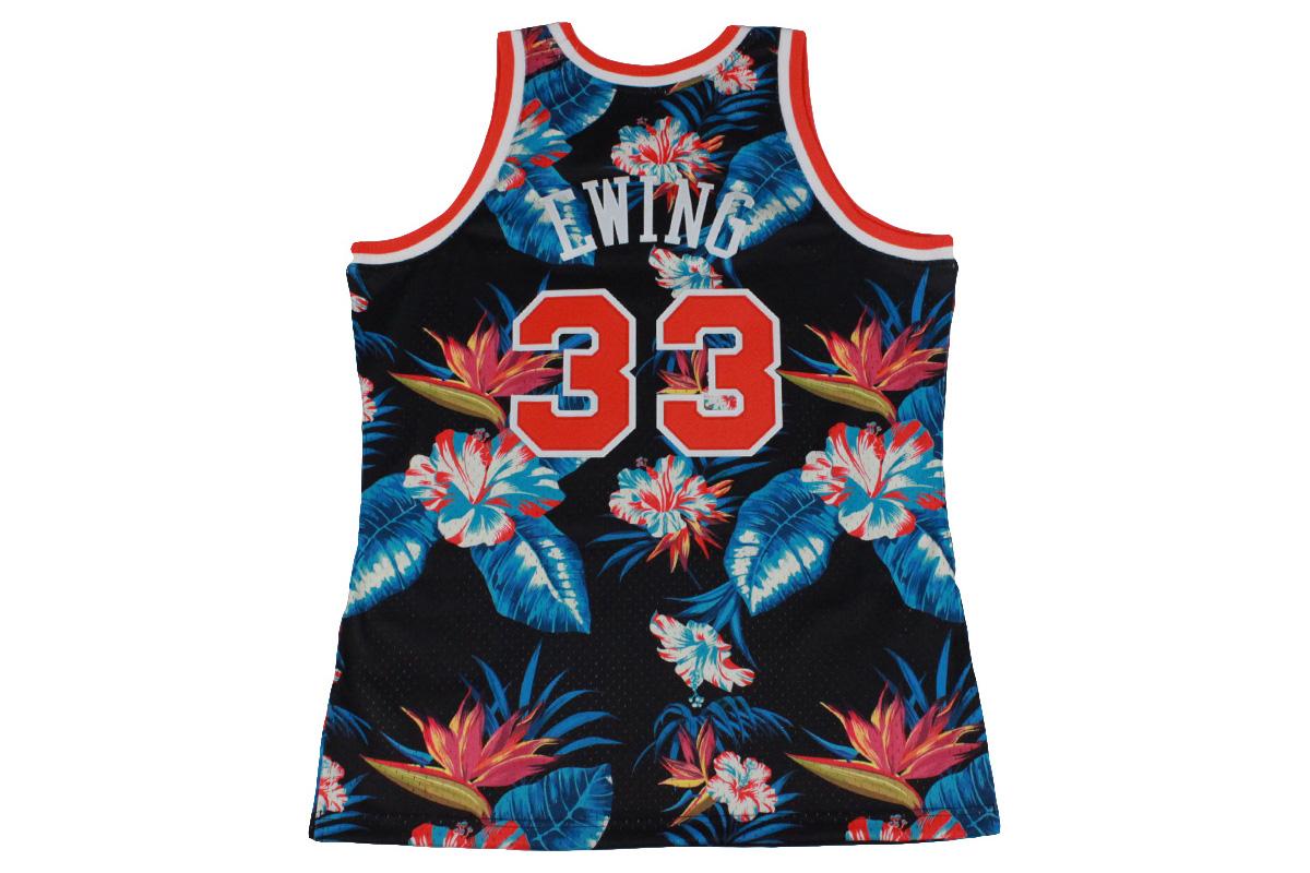 online store 11c8e 18f56 (☆) Mitchel &ness Mitchell & Ness basketball uniform NBA floral swing man  jersey New York Knicks #33 Patrick Ewing