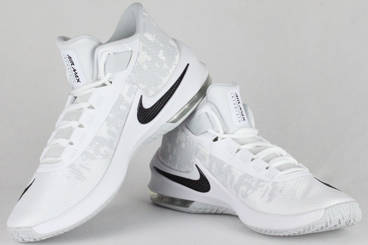 Nike AIR MAX INFURIATE 2 MID Mens White//Black-Pure Platinum AA7066-100 Shoes
