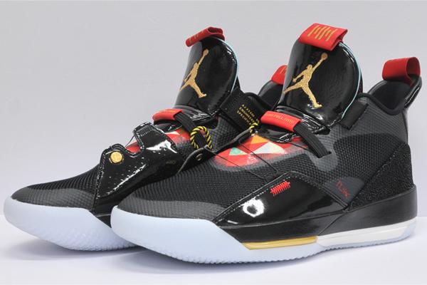 Nike Jordan NIKE JORDAN basketball shoes NIKE AIR JORDAN XXXIII PF Nike Air Jordan 33 PF (black metallic gold summit white)