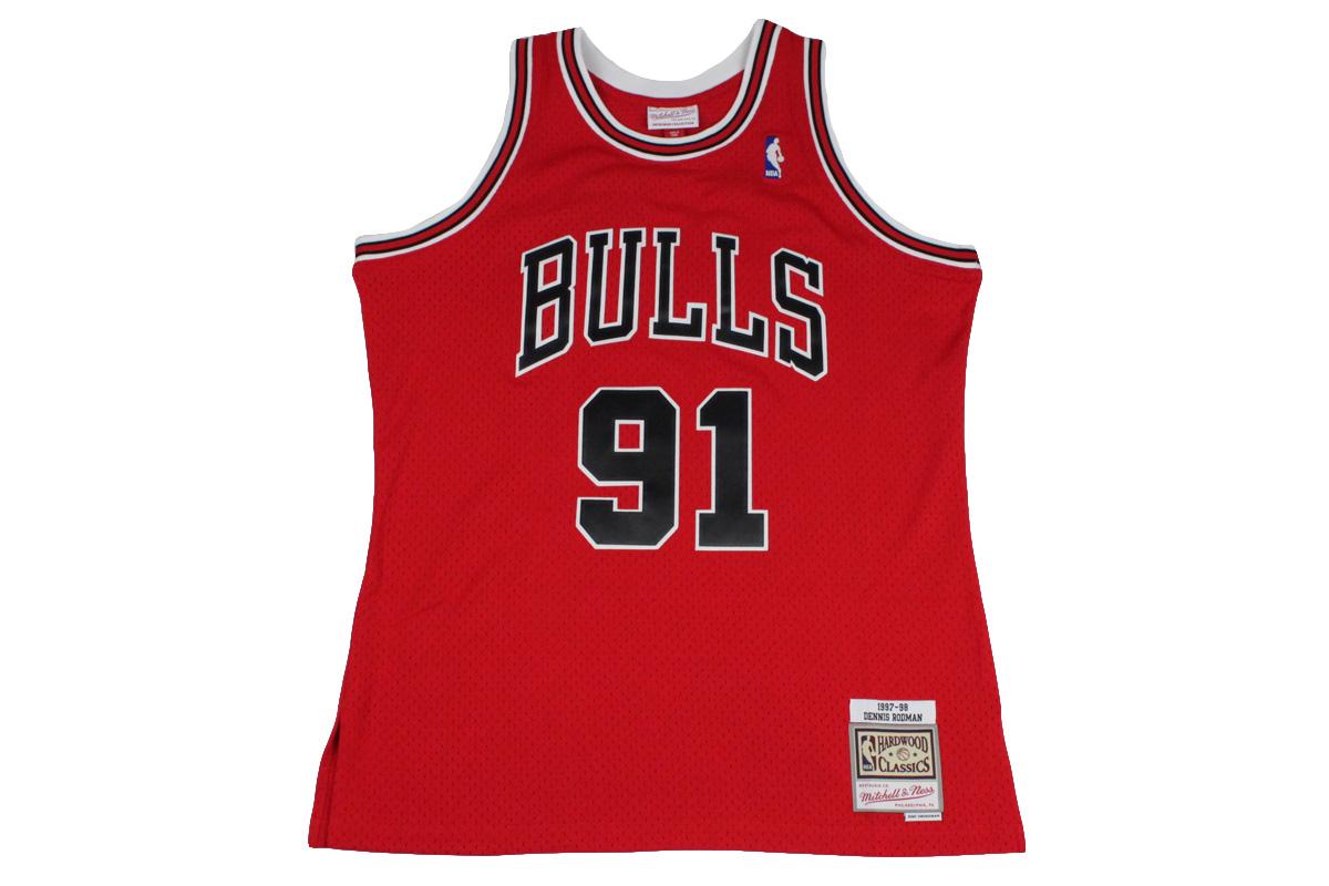 sale retailer 36f5d b485d Mitchel &ness Mitchell & Ness basketball uniform NBA swing man jersey  Chicago Bulls #91 Dennis Rodman
