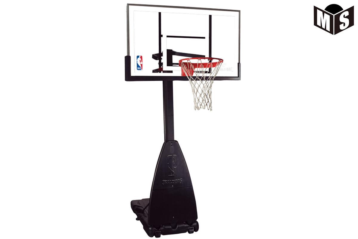 【5月下旬入荷予定】スポルディング SPALDINGバスケットゴールプラチナムポータブルNBAロゴ入り ミニバス対応【68490JP】