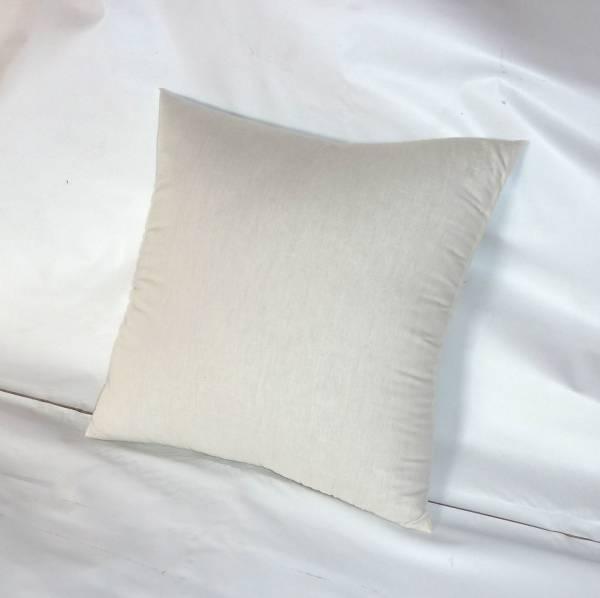 日本製 45×45cm 中綿800g入り 国産品 45cmx45cmのカバーをかけてご使用ください ヌードクッション お得セット キナリ綿100%生地