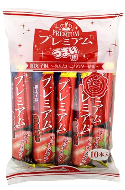プレミアムうまい棒 新登場 駄菓子 明太子味 店舗 10本入 送料0円 TVで放映 卸価格 人気急上昇
