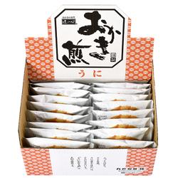 磯の香り豊かな味わいの大判揚げせんべい 丸彦製菓 AL完売しました。 うにおかき煎 保証 ギフト仕様 16枚入×4箱 1枚個装入