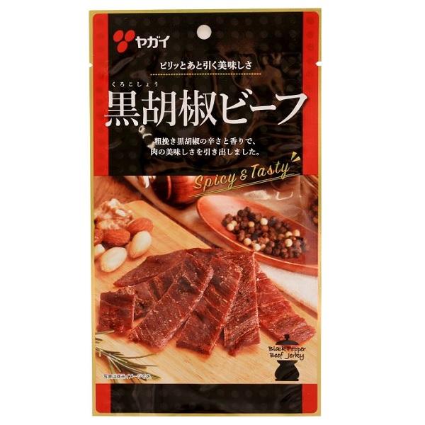 【卸価格】黒胡椒ビーフ やわらか仕上げ 27g×50袋 ヤガイ【特価】赤パッケージ ★代引き不可
