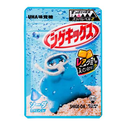 酸っぱいグミの王道 卸価格 シゲキックス 訳あり ソーダ 10袋入り1BOX 公式通販 特価 UHA味覚糖