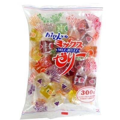 【卸価格】ミックスゼリー 300g×60袋 金城製菓 寒天フルーツゼリー