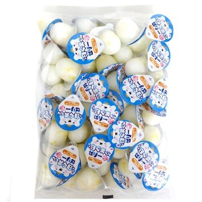 みかん パインの果肉入り 徳用袋 卸価格 ミニゼリー プチ白くまくんゼリー 1袋 業務用 日本製 金城製菓 練乳風味 高額売筋 16g×50個
