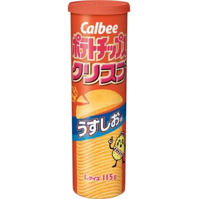 カルビー ポテトチップスクリスプ うすしお味  Lサイズ 115g×6個入8BOX(48個) 筒型【特価】