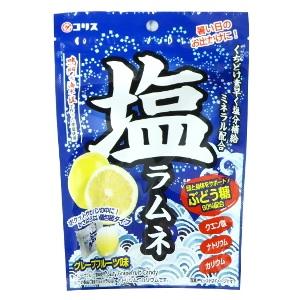 塩ラムネ 55g×6袋入30BOX(180袋)塩分補給 ブドウ糖90%配合 塩分チャージ塩ラムネタブレット コリス 熱中症対策 グレープフルーツ味 ★代引き不可商品