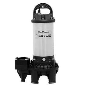 新明和工業 樹脂(高通過性能) CR型ポンプ CR80-F65N-52.2 フランジ接続形 非自動運転 2.2Kw 50Hz   水中ポンプ 汚水槽 排水槽 井戸 排水 池 浄化槽 揚水 汲み上げ 水 残水 雑排水 井戸水 水中 送水ポンプ 雨水 単独浄化槽 合併浄化槽 グリストラップ 雑用水 地下水 新明和