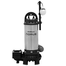 新明和工業 樹脂(高効率) CRS型ポンプ CRS65D-P50NR-61.5 自動接続形 自動排水スイッチ付 1.5Kw 60Hz