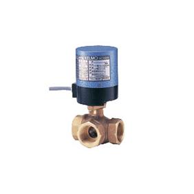 キッツ 電動バルブ 青銅製ボールバルブ(三方) EA200-TNE型 1/4インチ(8A) EA200-TNE-1/4