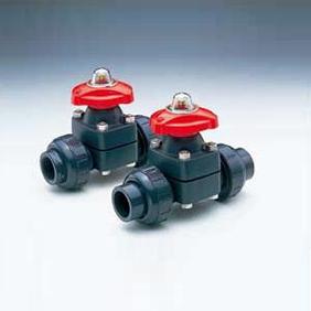 旭有機材工業 自在ダイヤフラムバルブ14型 U-PVC製 ねじ込み形 40A VT1MHUENJ040